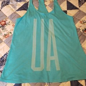 Womens Under Armour Blue Tank Size Large